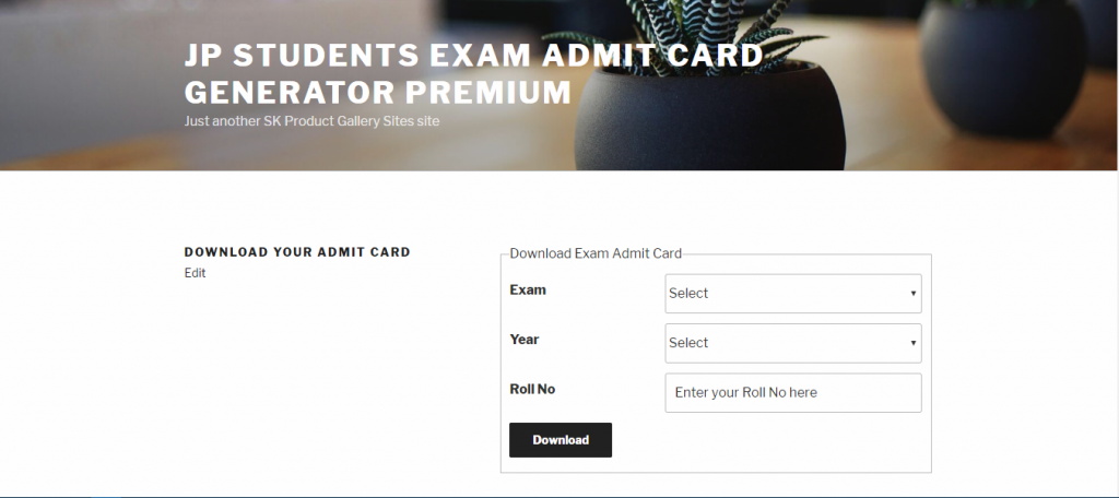 JP Students Exam Admit Card Generator Premium