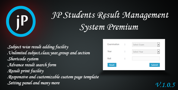 JP Student Result Management Sytem